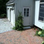 Herringbone pattern Patio by New England Landscaping, Spencer, MA