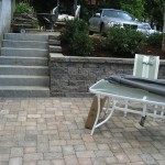 Patio and Retaining Wall by New England Landscaping, Spencer, MA