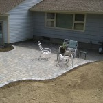 Curved Patio by New England Landscaping, Spencer, MA