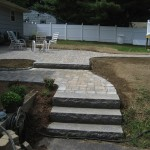 Walkway and Stairs by New England Landscaping, Spencer, MA