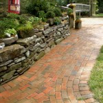 brick walkway by New England Landscaping